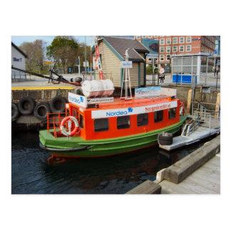 Taxi del agua del puerto de Noruega Bergen Tarjetas Postales