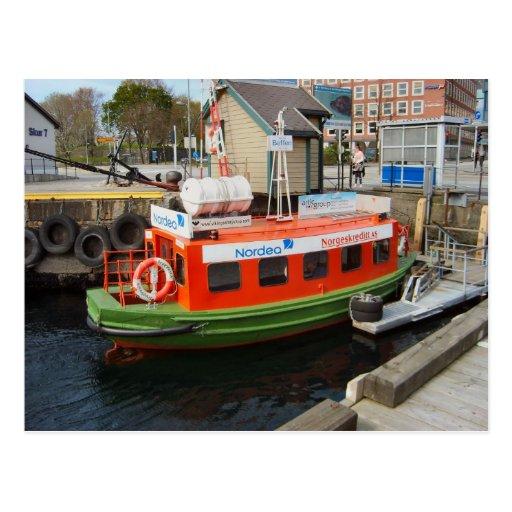 Taxi del agua del puerto de Noruega, Bergen Tarjetas Postales