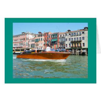 Taxi del agua en Venecia Tarjeta De Felicitación