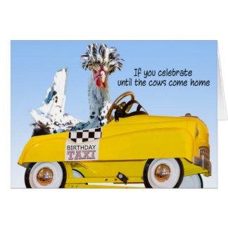 Taxi del cumpleaños tarjeta de felicitación