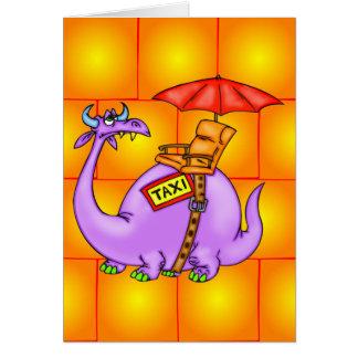 Taxi del dragón tarjeta pequeña