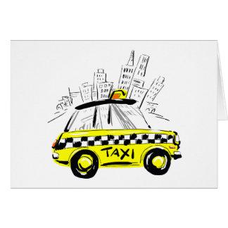 taxi del newyork tarjeton