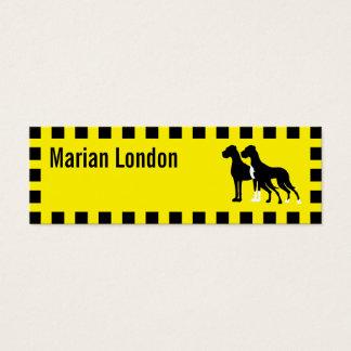 Taxi del perro tarjeta de visita pequeña
