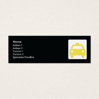Taxi - flaco tarjeta de visita pequeña