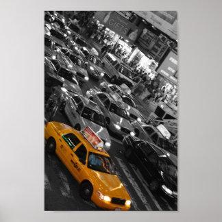 Taxi: Fondo de B&W Póster