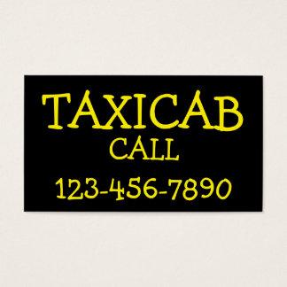 Taxi intrépido simple tarjeta de negocios