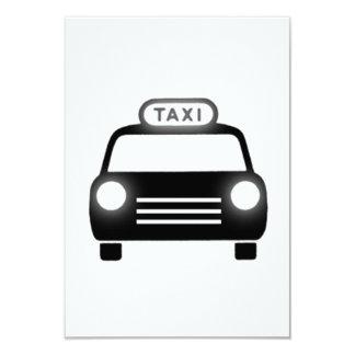 Taxi Invitación 8,9 X 12,7 Cm