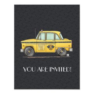 Taxi lindo invitación 10,8 x 13,9 cm