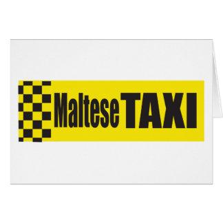Taxi maltés tarjeton