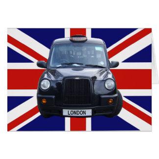 Taxi negro de Londres Tarjeton