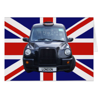 Taxi negro de Londres Tarjeta De Felicitación