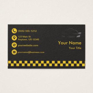 Taxi negro superior tarjeta de negocios