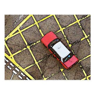 Taxi rojo postal