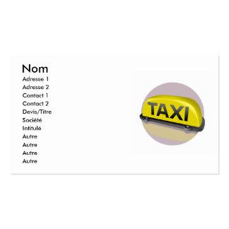 Taxi Plantillas De Tarjetas Personales