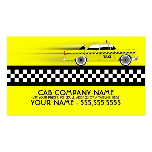 taxi tarjeta de visita