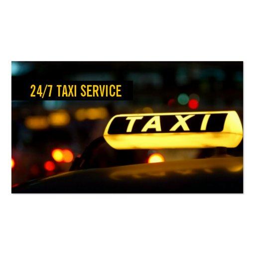 Taxi, taxi, conductor, tarjeta de visita del