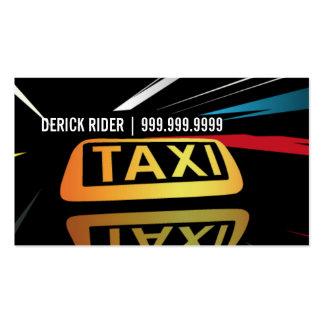 Taxi taxi conductor tarjeta de visita del trans