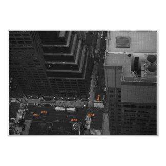 Taxis amarillos invitación 8,9 x 12,7 cm
