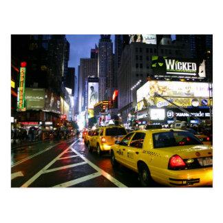 Taxis en Broadway Nueva York Postal