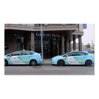 Taxis en Vilna Lituania Tarjetas De Visita