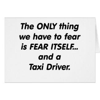 Taxista del miedo tarjeta de felicitación
