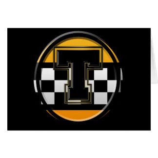 Taxista inicial de T Tarjeta De Felicitación