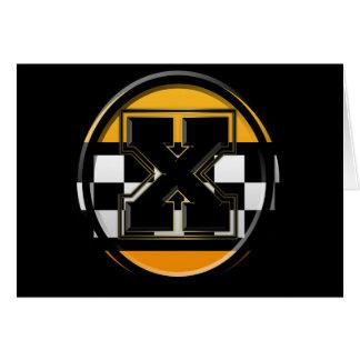 Taxista inicial de X Tarjeta De Felicitación