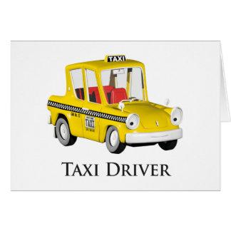 Taxista Tarjeta De Felicitación