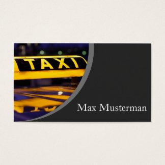 Taxista tarjeta de presentación