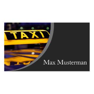 Taxista tarjeta de presentación tarjetas de visita