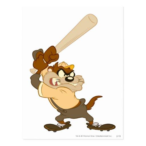 TAZ™ el bateador del home run Postales