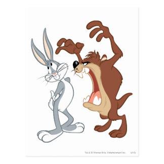 TAZ™ y Bugs Bunny no incluso que retroceden - Postales