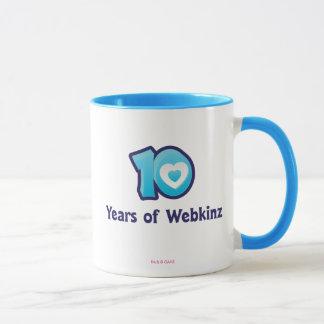Taza 10 años de logotipo de Webkinz