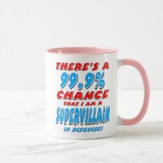 Taza 99,9% Soy un MALVADO ESTUPENDO (el negro)