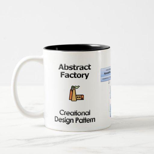 Taza abstracta de la fábrica