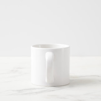 Taza abstracta de la mariposa - taza de café azul