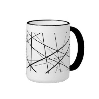 Taza abstracta de los asteriscos (negros y blanco)