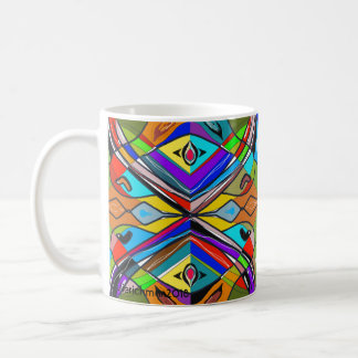 Taza abstracta y chillona