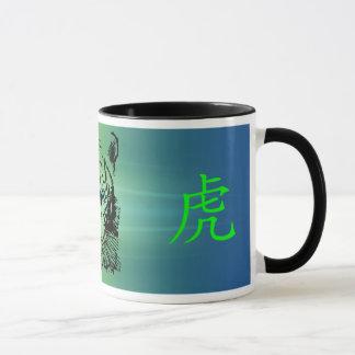 Taza acuática china del tigre