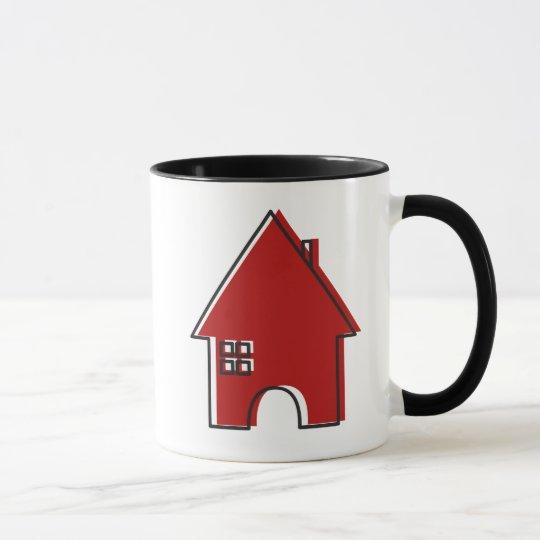 Taza adaptable del agente inmobiliario de la casa