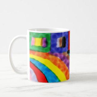 Taza alegre del arco iris