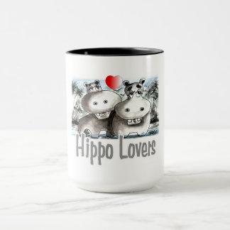 Taza Amantes del hipopótamo