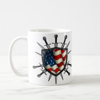 Taza americana de Coffe del escudo de LosMoyas