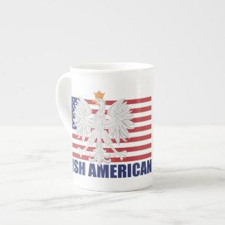 Taza americana polaca de la porcelana de hueso taza de porcelana