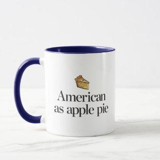 Taza Americano como empanada de Apple