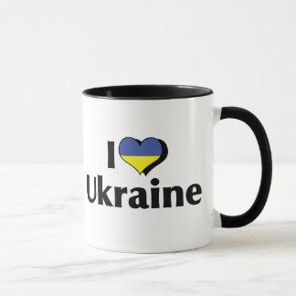 Taza Amo la bandera de Ucrania