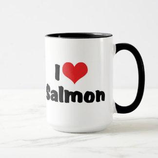 Taza Amo los salmones del corazón - amante de los