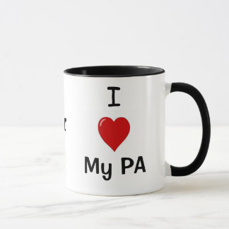 Taza ¡Amo mi PA y mi PA me ama!