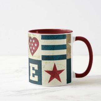 Taza Amor América patriótica