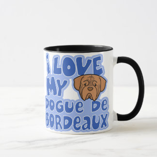 Taza Amor de Kawaii I mi Dogue de Bordeaux